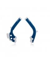 Acerbis Rahmenprotektor X-GRIP KTM / Husqvarna Blau-Weiss
