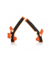 Acerbis Rahmenprotektor X-GRIP KTM 85 / Husqvarna 85 orange98-schwarz
