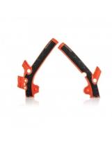 Acerbis Rahmenprotektor X-GRIP KTM 85 / Husqvarna 85 orange16-schwarz
