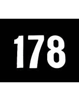 Startnummern Standard 15cm weiß