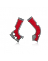 Acerbis Rahmenprotektor X-GRIP CRF 250/450 silber-rot