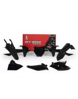 Racetech Plastikkit KTM SX 85 18- Schwarz 5tlg