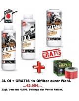 Ipone Off Road 10W40 Katana + 1 Ölfilter GRATIS