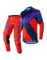 Alpinestars Racer Tech Atomic Combo S9 Red Navy Blue