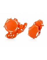 Acerbis X-Power Kupplungsdeckel & Zündungsdeckel Schutz  KTM EXC  / Husqvarna 4T orange16