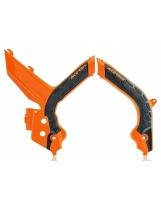 Acerbis Rahmenschutz X-GRIP KTM orange-schwarz