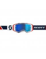SCOTT Prospect red/blue / electric blue chrome works