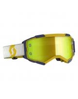 Scott Fury MX / MTB Brille gelb/blau/gelb chrom works