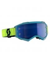 Scott Fury MX / MTB Brille türkis/gelb/electric blau chrom works