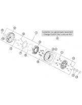 KTM SX 50 KUPPLUNGSPASSBOLZEN + MITNEHMER