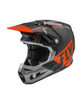 Fly Racing Helm Formula Vector matt-orange-grau-schwarz