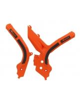 Racetech Grip Rahmenschützer KTM SX/F 19-, EXC 20- Orange Schwarz