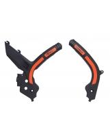 Racetech Grip Rahmenschützer KTM SX/F 19-, EXC 20- Schwarz Orange