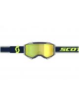 Scott Fury MX / MTB Brille  blue/grey / yellow chrome works