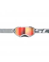 Scott Fury MX / MTB Brille white/grey / orange chrome works