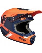Thor Split Kinder Mx Helm orange navy
