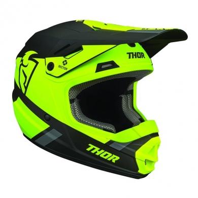 Thor Split Kinder Mx Helm Neon Gelb/ Schwarz
