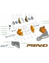 Mino Racing  Bremssattel  KTM sx 65  hinten 2009-